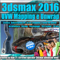3ds max 2016 UVW Mapping e Unwrap Subscription 3 Mesi