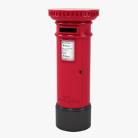 3d model of british mailbox