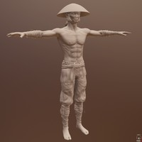 zbrush asian male character obj