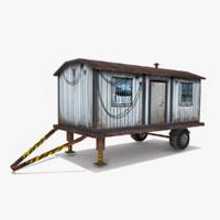 3d cargo trailer model