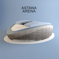 3d astana arena football stadium