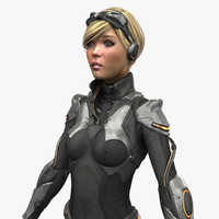 max female sci fi suit