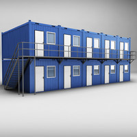 3d container shipping house double
