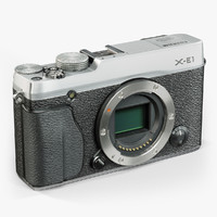 3d model low-poly fujifilm x-e1 silver