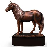 horse statuette 3d 3ds