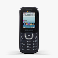 low-poly samsung e1282 black 3d model