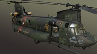 ch-47 chinook transport 3d model
