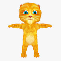 cat cartoon 3d max