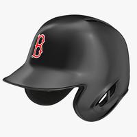 baseball helmet rawlings boston 3d model