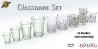 obj glassware - glasses set
