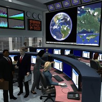 3d office building command center