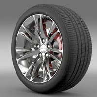 chrysler 300c 2015 wheel 3d model