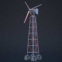 new wind turbine 3d model