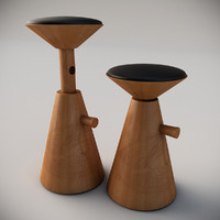 3d max raising wood stools