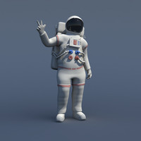 3d obj rigged nasa astronaut