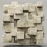 3ds max stone