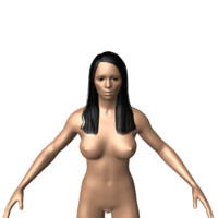 simple nude girl 3d model