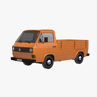 3d model volkswagen t3 pickup