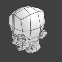 Super Low-poly Head Base Mesh