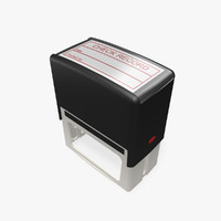 office ink stamp 3d model