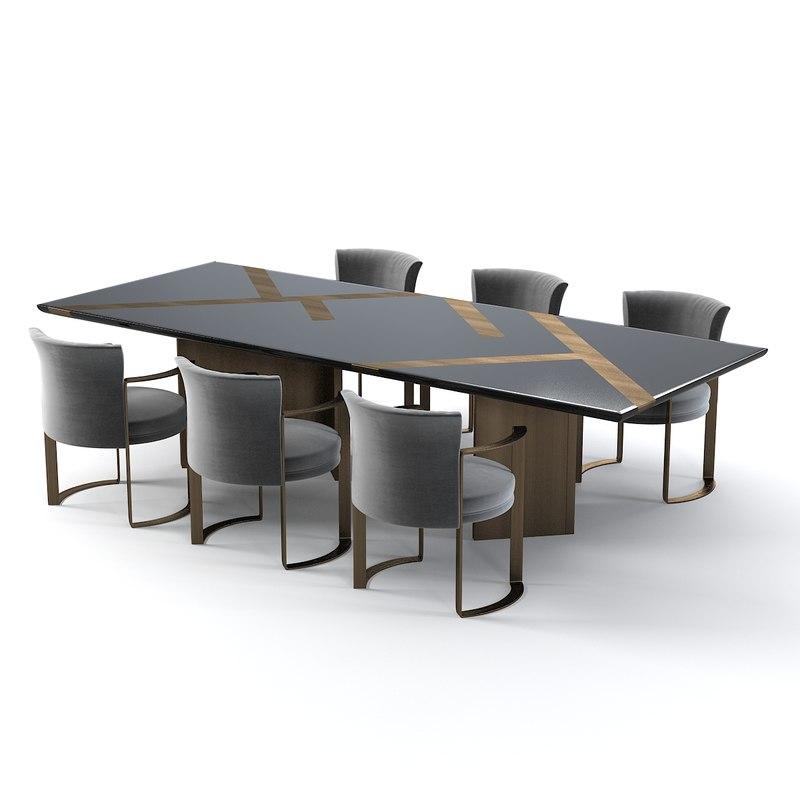 3d model fendi casa margutta. Black Bedroom Furniture Sets. Home Design Ideas
