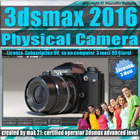 3ds max 2016 Physical Camera 3 Mesi Subscription