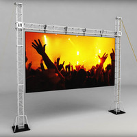3d telebim scaffolding led screen model