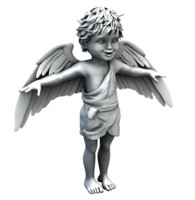 cupid angel boy child 3d x