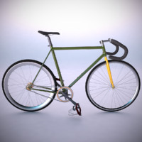 vintage fixed gear bicycle 3d model