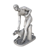 3d x statue hunter dog