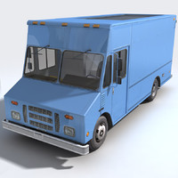 3d model of step van generic