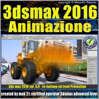 3ds max 2016 Animazione. volume 5.0 Italiano_cd front