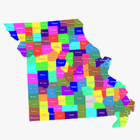 missouri counties 3d model