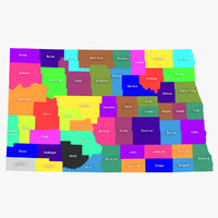 3d model north dakota counties