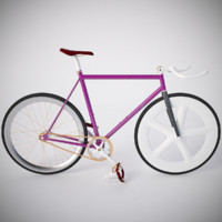 3d model vintage fixed gear bicycle