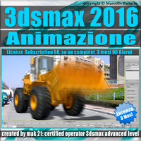 3ds max 2016 Animazione. volume 5.0 Italiano 3 Mesi Subscription