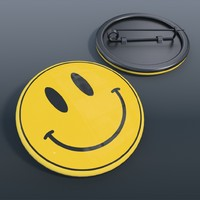 max badge smiley face