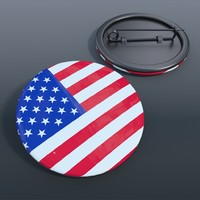 badge united states 3d model