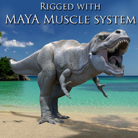T.rex with Maya Muscle