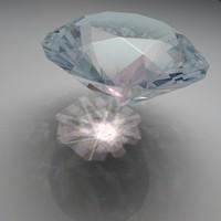3d model diamond