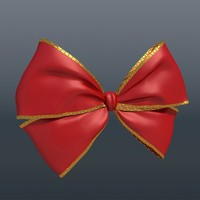 red bow 3d model