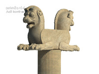3d model lion capital column persepolis