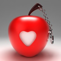 apple toy key chain 3d max