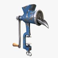 old meat grinder 3d model