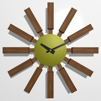 wooden wall clock 07 3d max