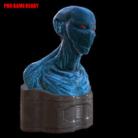 maya alien character pbr navigator