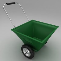 garden wheel barrow 3d model