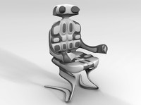 3d model of sci fi chair