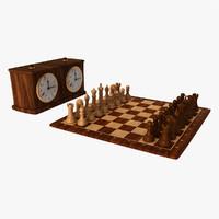 Chess Set & Clock(1)