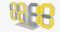 clock digital 3d model